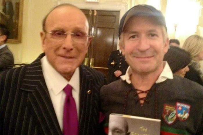 Clive Davis & Larry- NYU Stern School for reading and Q&A with Clive. New York.