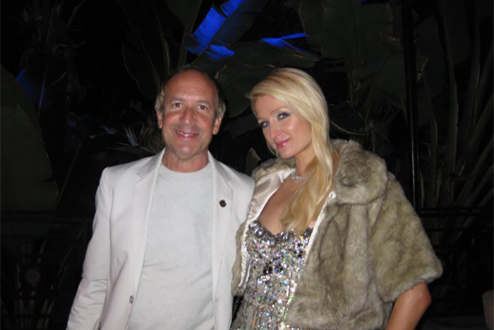 Larry & Paris Hilton- EMI Records Grammy Party. Los Angeles, California.