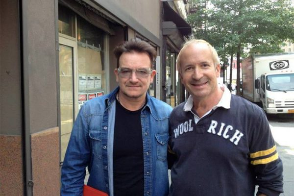 Bono & Larry outside of Electric Lady Studios, New York.