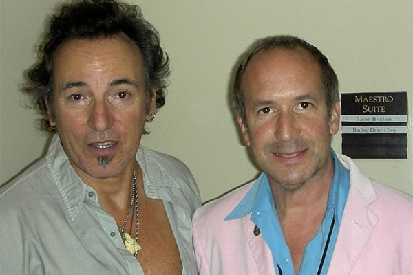 Bruce & Larry backstage at Carnegie Hall. A benefit concert for the UJA Music for Youth foundation. New York.