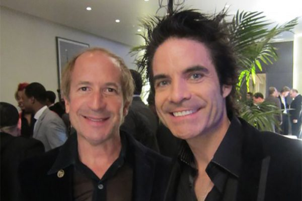 Larry & Patrick Monahan of Train at EMI Grammy party. Hollywood, California.