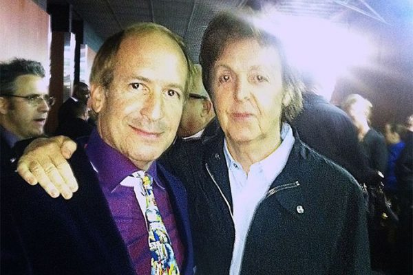 Larry & Sir Paul McCartney backstage at the Grammy Awards dress rehearsal. The Staples Center, Los Angeles.